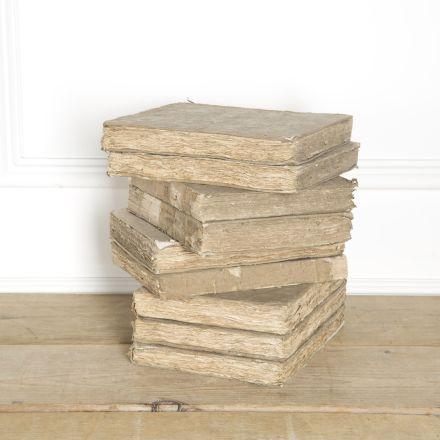 Set of 9 Large French 18th Century Books DA449885
