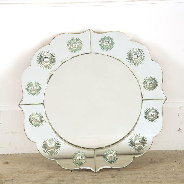 1950s Italian Circular Wall Mirror MI299820