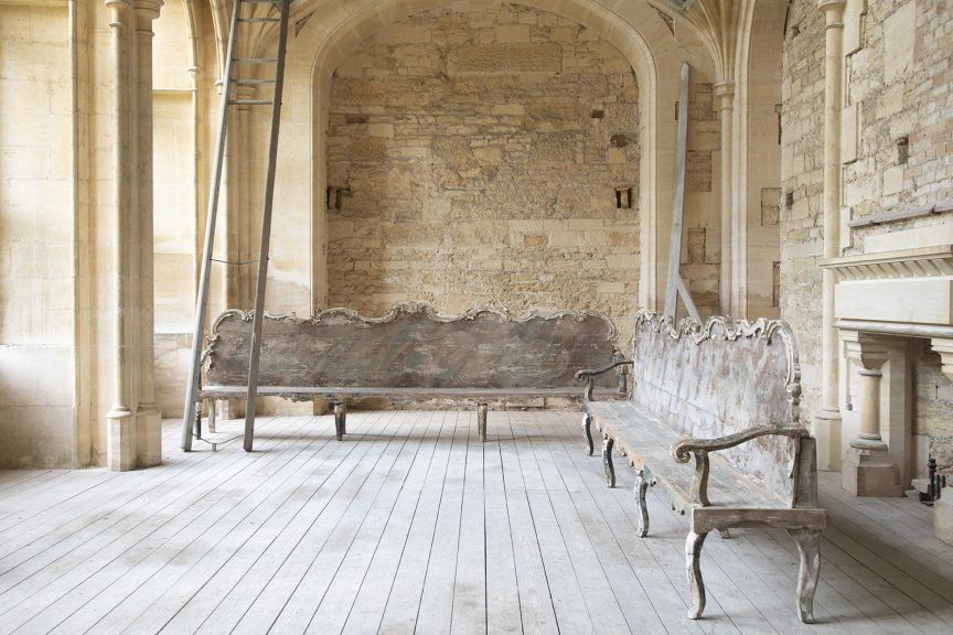 Pair of 18th Century Monumental Benches