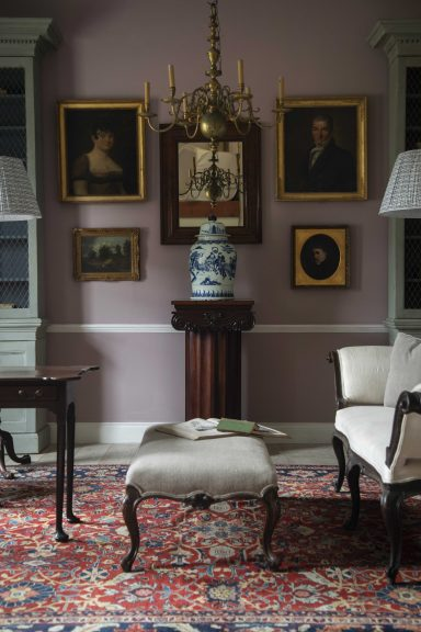 Georgian antiques in drawing room