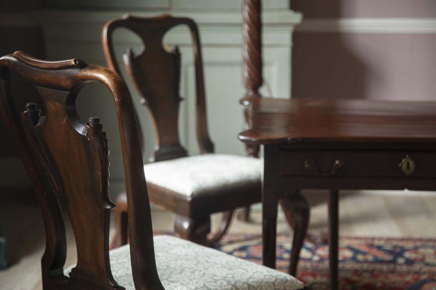 Georgian side table and Georgian chairs