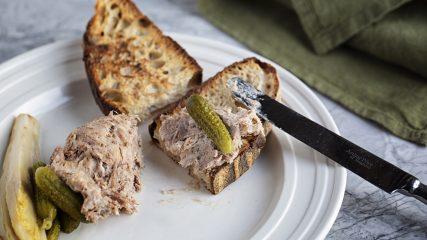 Pork rillettes with pickled endive