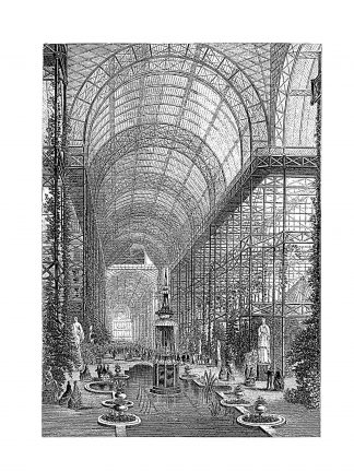 Engraving of the Crystal Palace, which housed the Great Exhibition of 1851