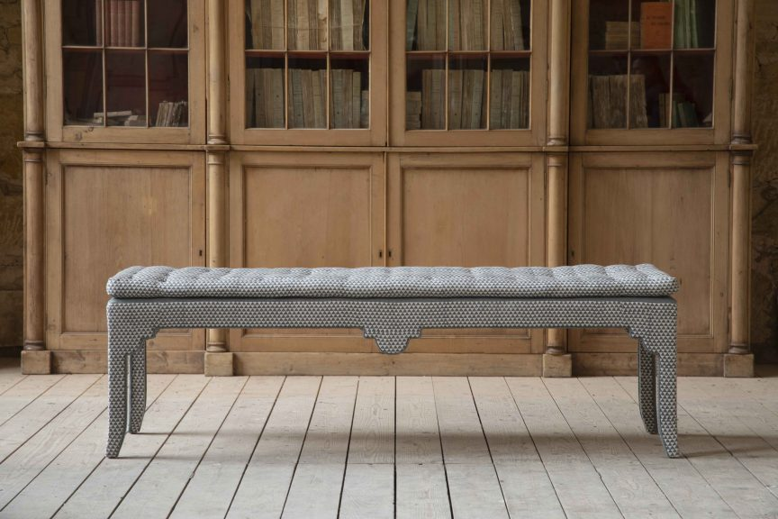 TP end of bed bench, from the Lorfords Contemporary X Turner Pocock collection