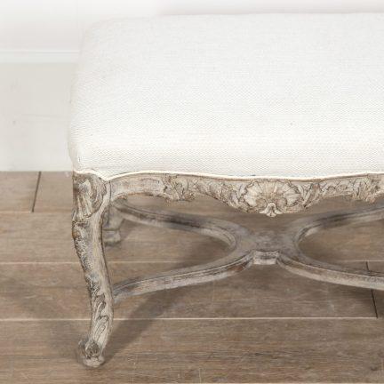 18th Century Swedish rococo bench