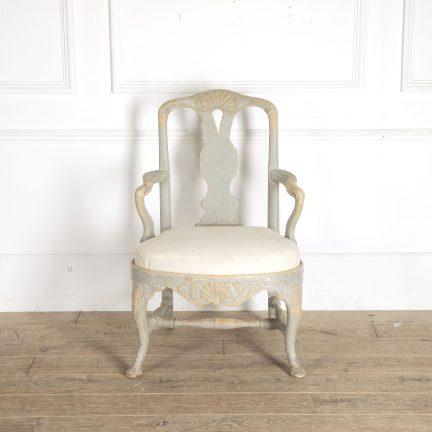 Swedish rococo armchair