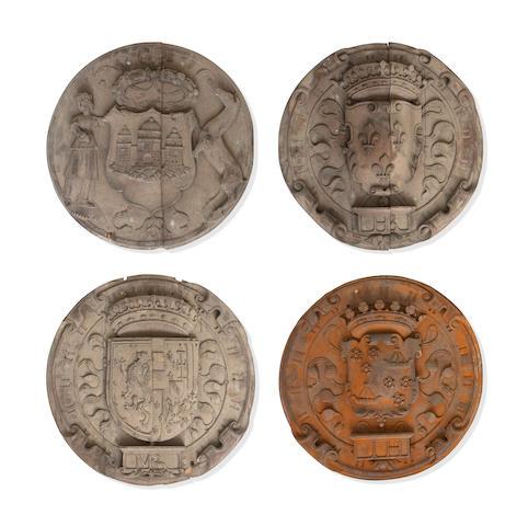 The armorial panels found in the Dunrobin Castle attics by Bonhams