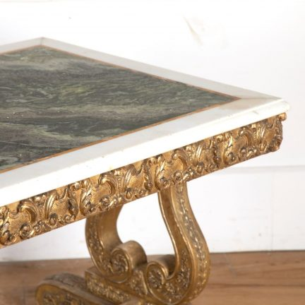 Irish Regency composition centre table with gilding