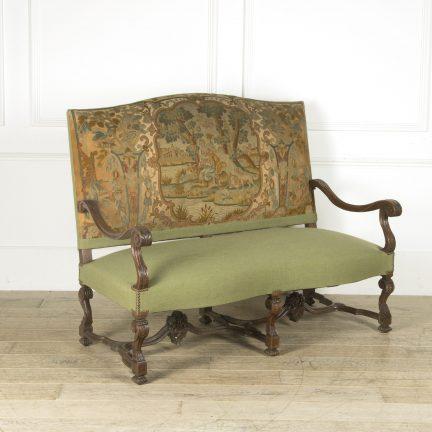 French walnut sofa